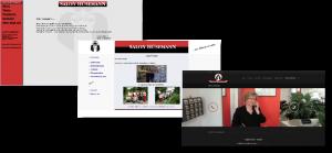 Unsere verschiedenen Webseiten Designs von früher bis heute