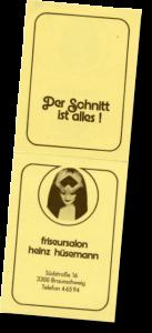 Visitenkarte (Aufsteller) Werbung